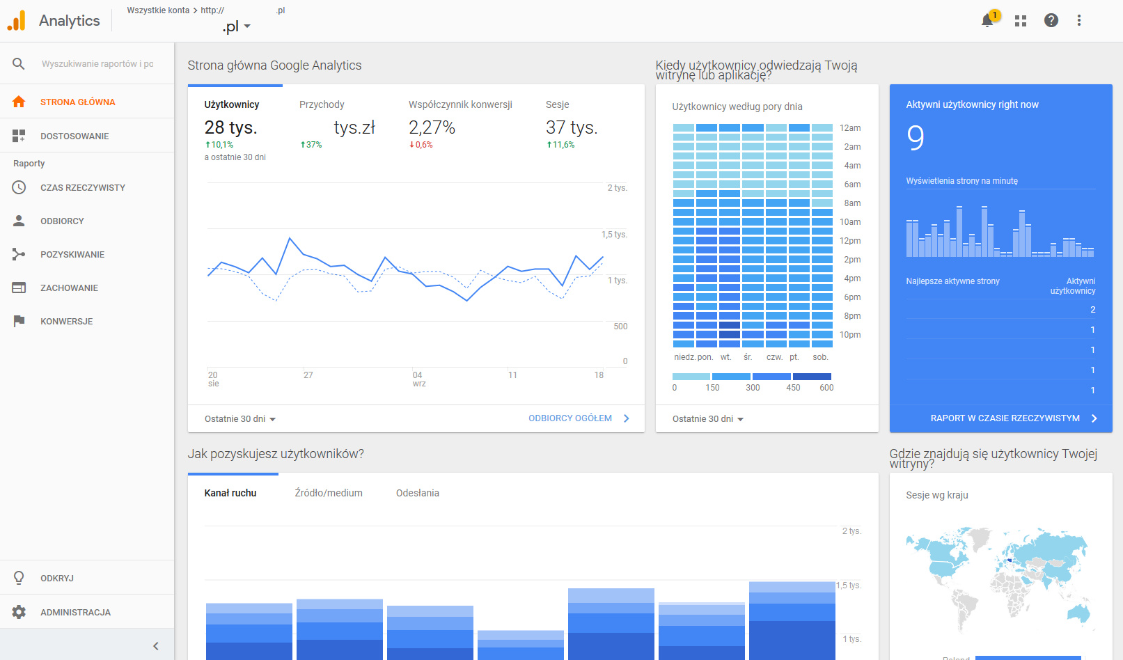 screenshot google analytics