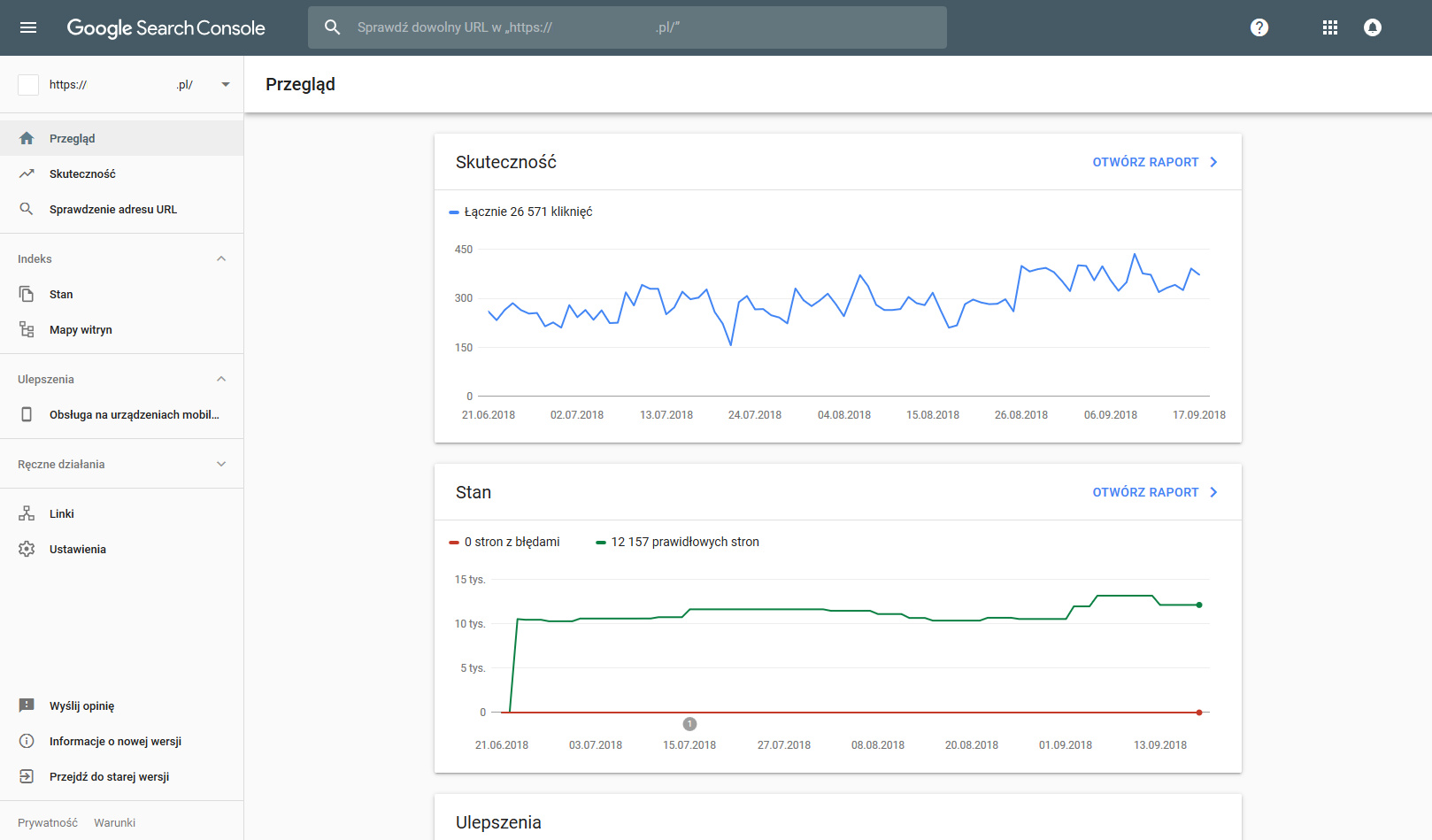 screenshot google search console