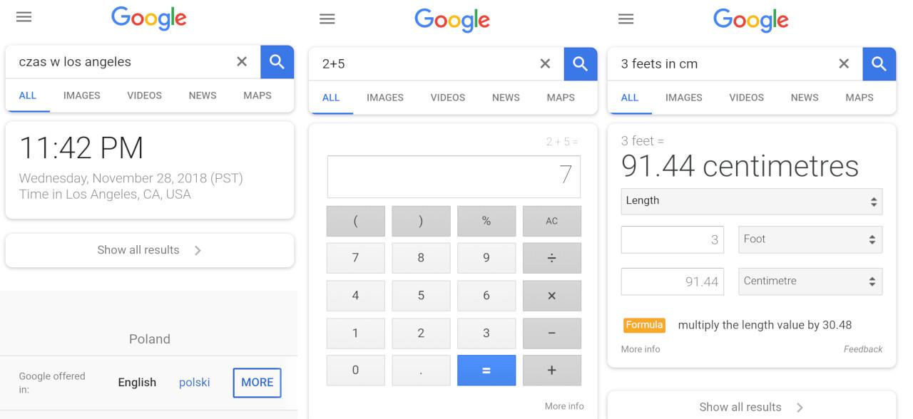 Wyszukiwarka Google bez wyników wyszukiwania