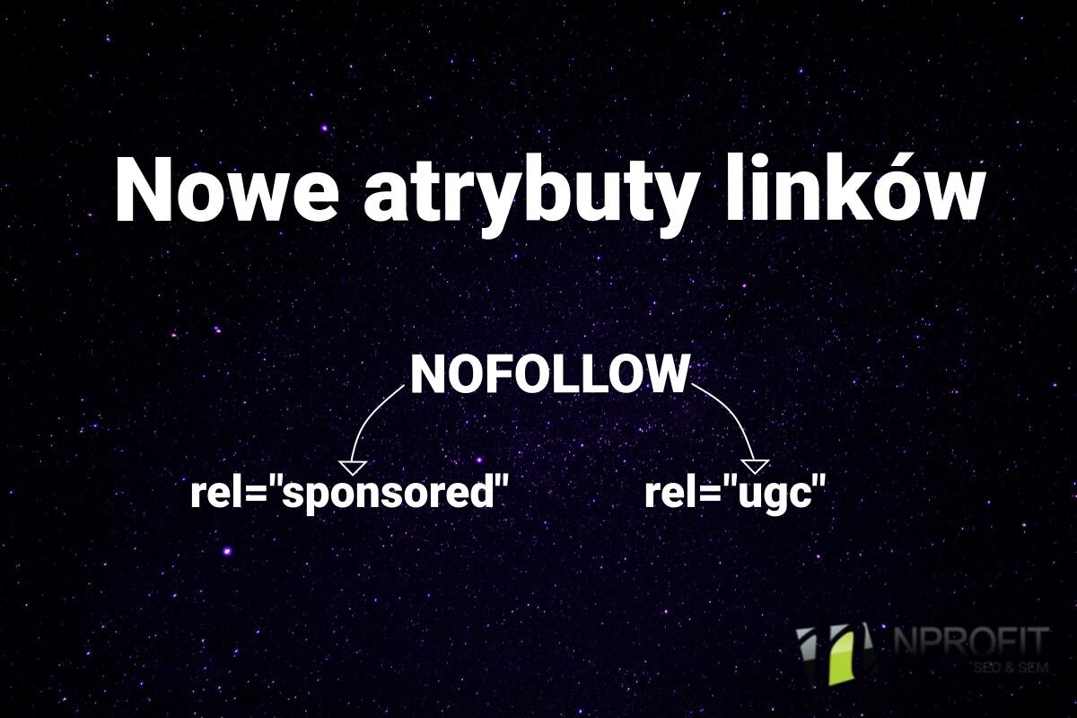 Nowe atrybuty linków nofollow sponsored i ugc